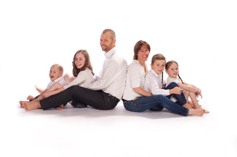 Hinter den Kulissen beim Familien-Photoshoot